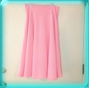 Agnes & Dora midi full skirt coral pink M XL NWT
